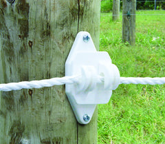 Wood Post Claw Insulator - white, 200 pack