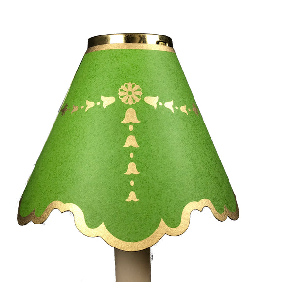 Double Scalloped with Gold Bells, Bright Green