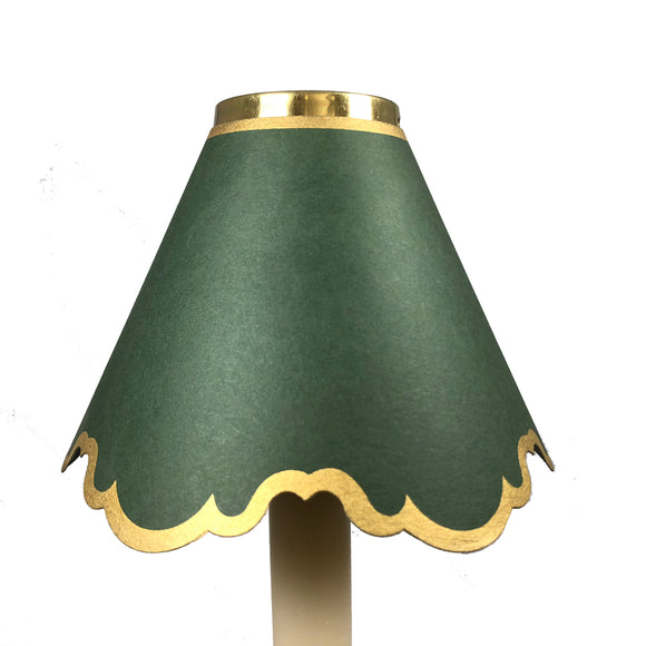 Double Scalloped In Dark Green