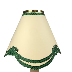 Scalloped Rope, Dark Green
