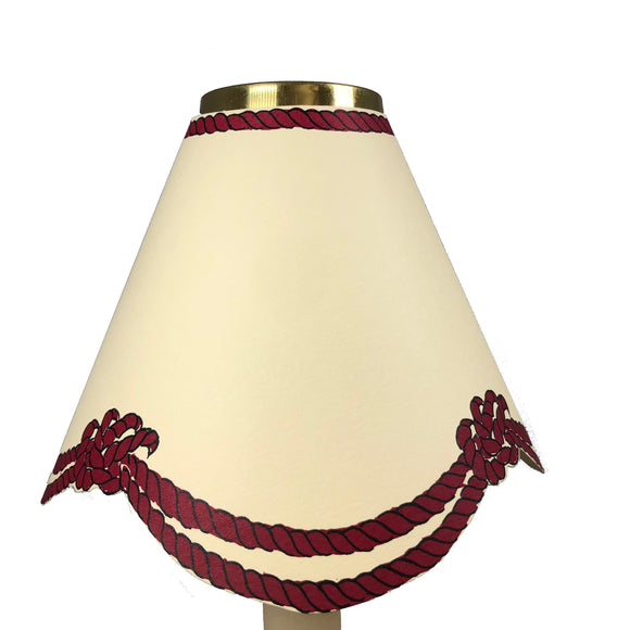 Scalloped Rope, Burgundy