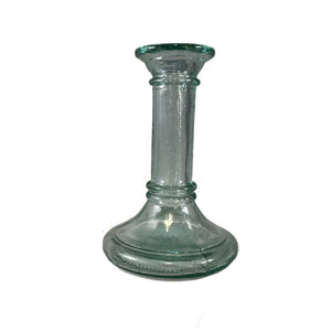 Hand Finished Clear Glass Candlestick