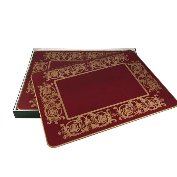 Table Mats, Burgundy (6)