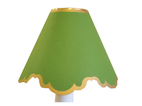 Double Scalloped In Bright Green
