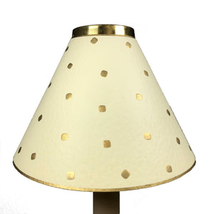 Rossi Dot Embossed Gold On Cream