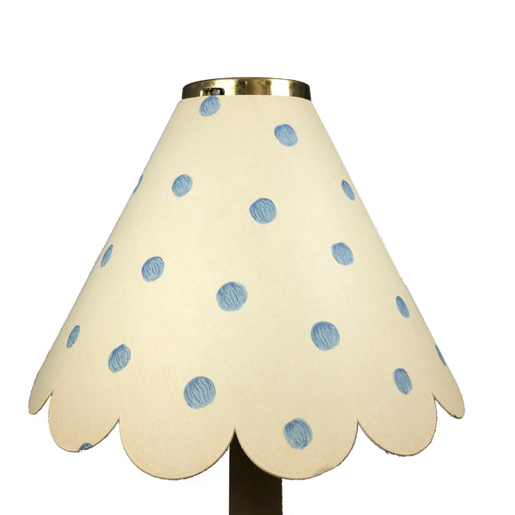 Large Scalloped Blue Spots On Cream