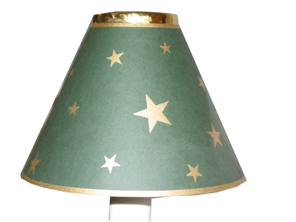 Green With Gold Stars