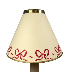 Red Bows Design On Cream