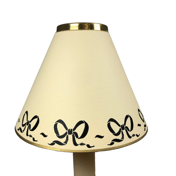 Black Bow Design On Cream
