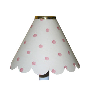Large Scalloped Burgundy Pink Spots On Cream