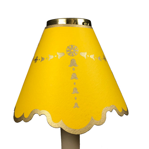 Double Scalloped with Gold Bells, Yellow
