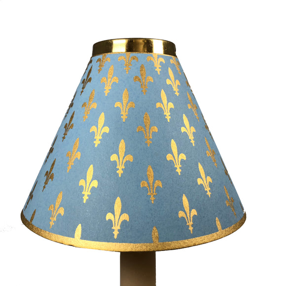 Light Blue With Fleur De Lys