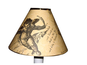 Card Candle Shade Millennium With Cherub