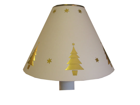 Shining Gold Christmas Trees On Ivory