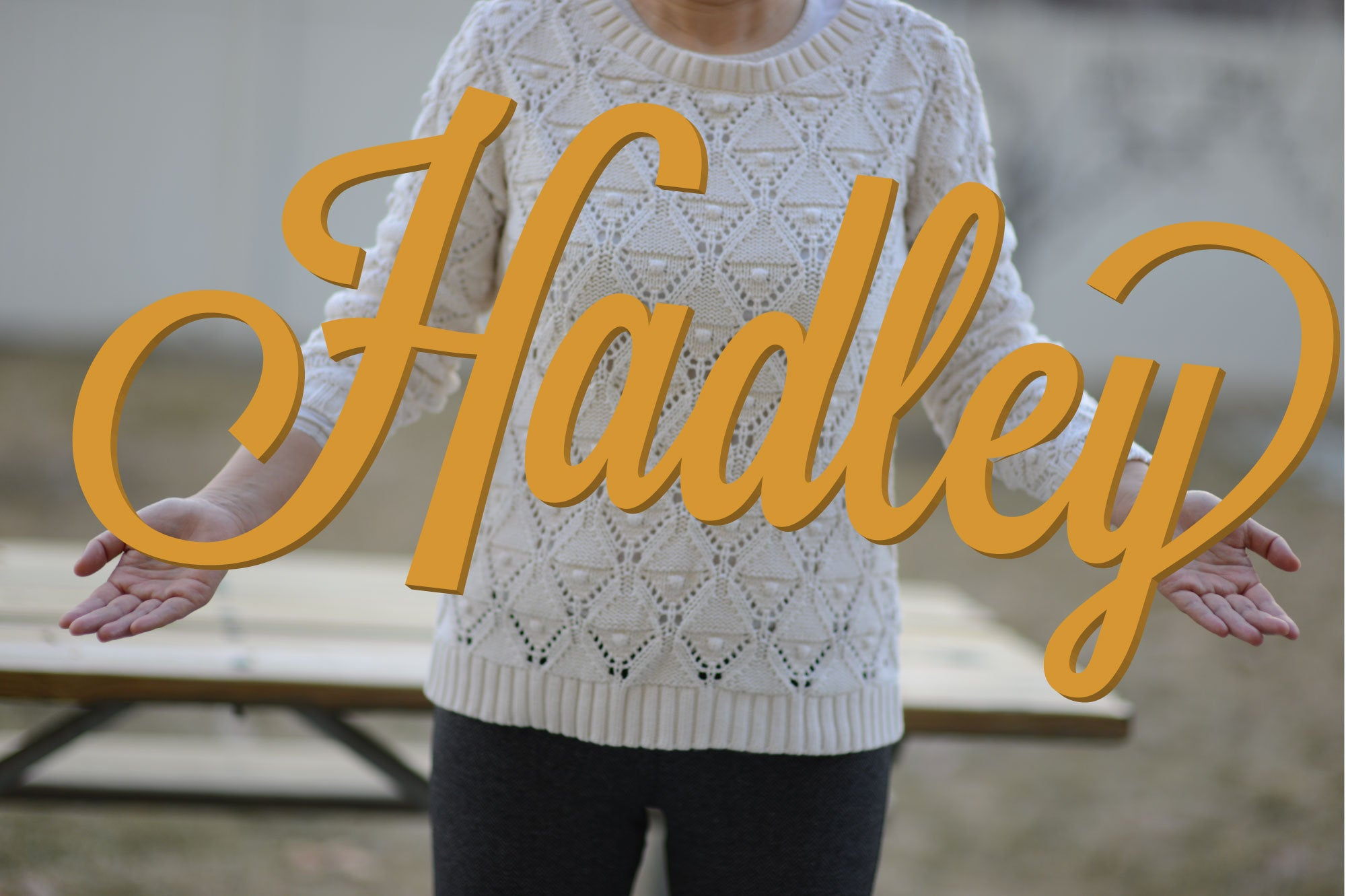 HADLEY Script Font  Nursery Name Sign or Baby Shower and Party Gift