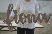 Load image into Gallery viewer, FIONA Script Font Wooden Name Sign