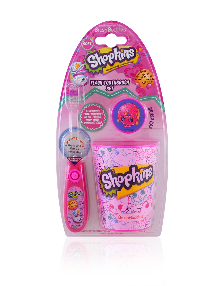 Brush Buddies Shopkins Flash Toothbrush Gift Set