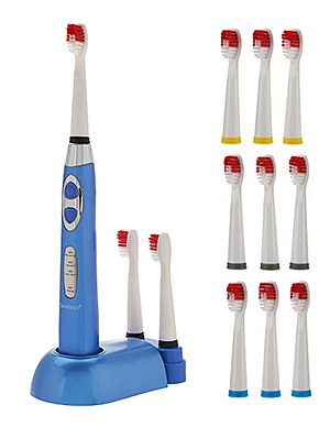 Soniclean Pro 3000 (Blue) With 12 Brush Heads
