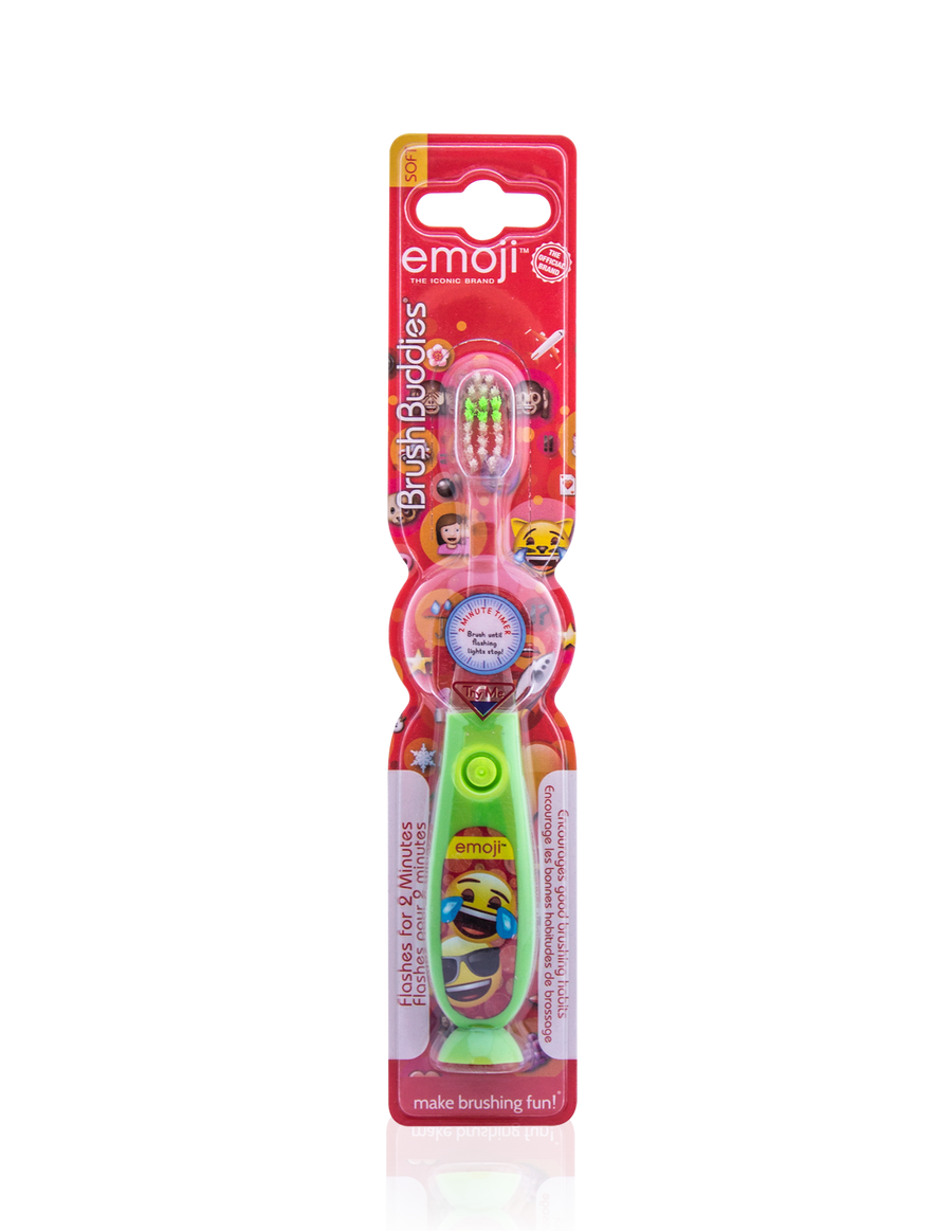 Brush Buddies Emoji Flash Toothbrush