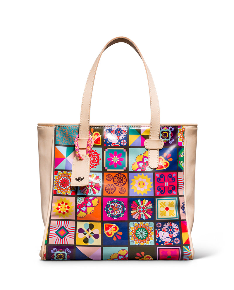 Allison Classic Tote in ConsuelaCloth™ by Consuela, front view