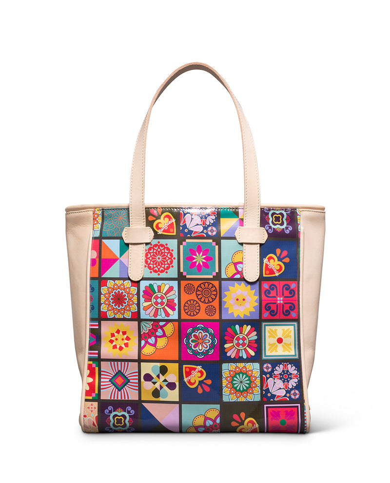 Allison Classic Tote in ConsuelaCloth™ by Consuela, back view