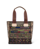 Ryan Classic Tote in waxed canvas with embroidery by Consuela, front view