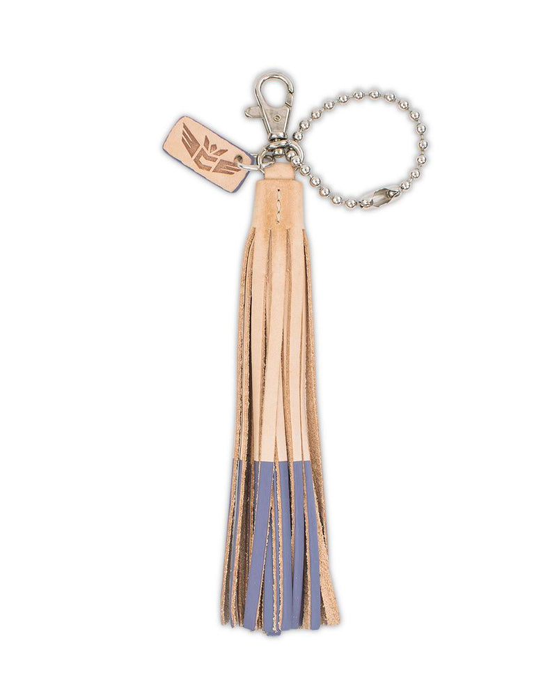 Uva Leather Fringe Keychain