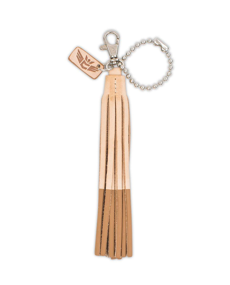 Nudie Color Dip Charm with two tone leather tassel