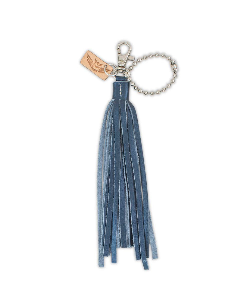 Starlee Fringe Charm with leather tassel