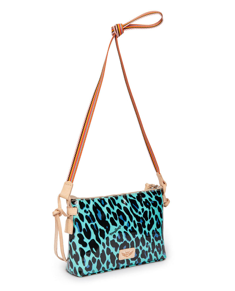 Gem Midtown Crossbody in Gem ConsuelaCloth by Consuela, side view
