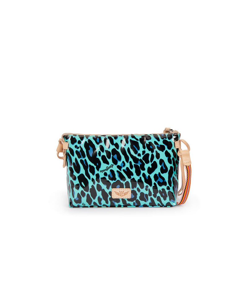 Gem Midtown Crossbody in Gem ConsuelaCloth by Consuela, back view
