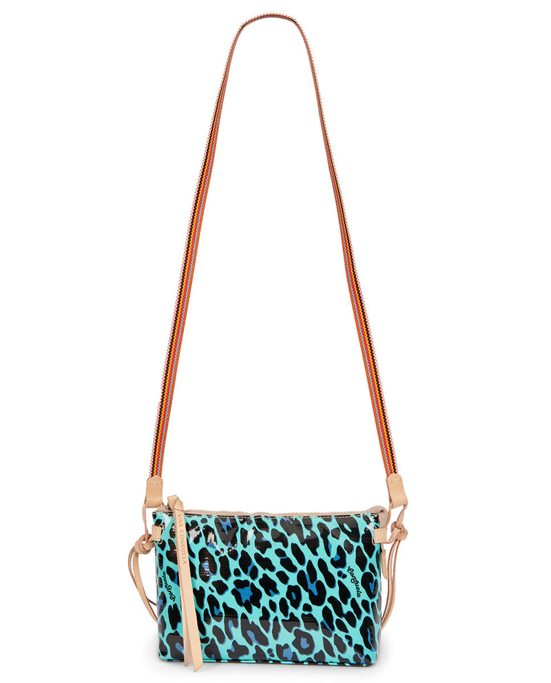 Gem Midtown Crossbody in Gem ConsuelaCloth by Consuela, strap view