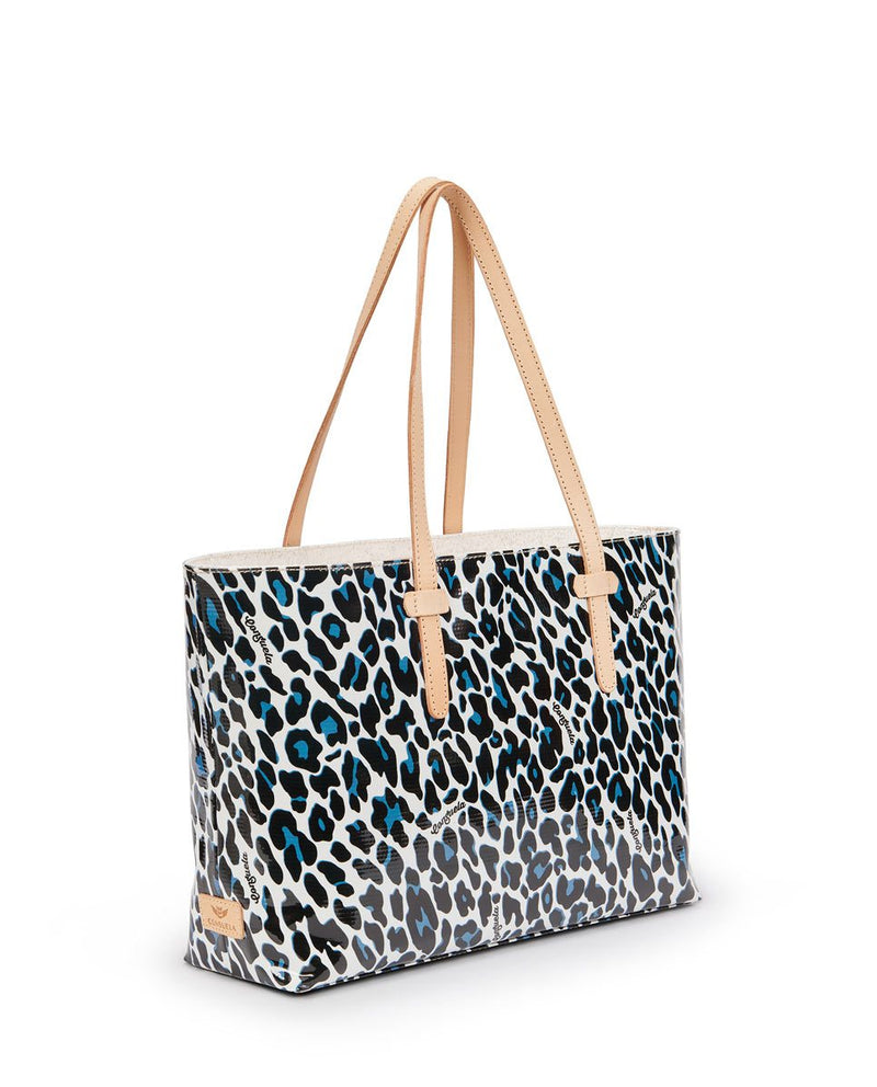 Lola East/West Tote in Lola ConsuelaCloth™  by Consuela, side view