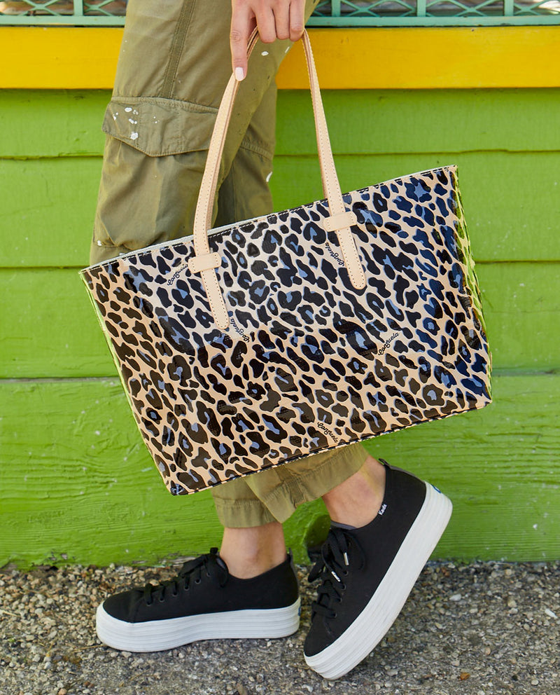 Blue Jag East/West Tote