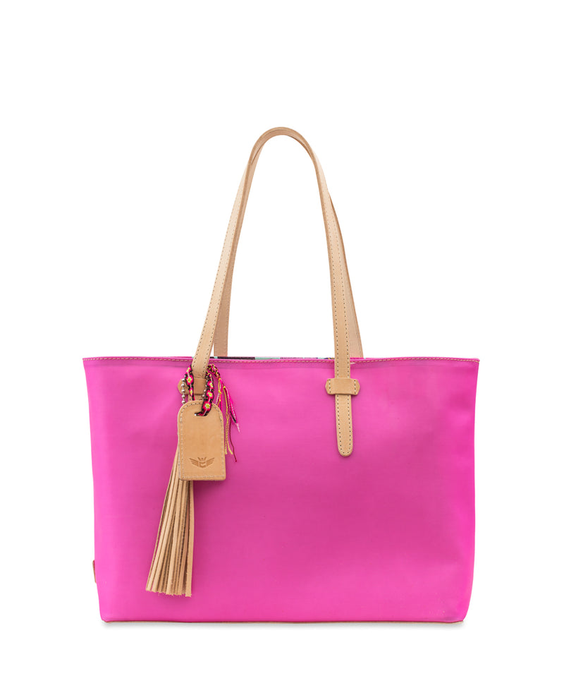 Pinkie Jelly East/West Tote by Consuela front view