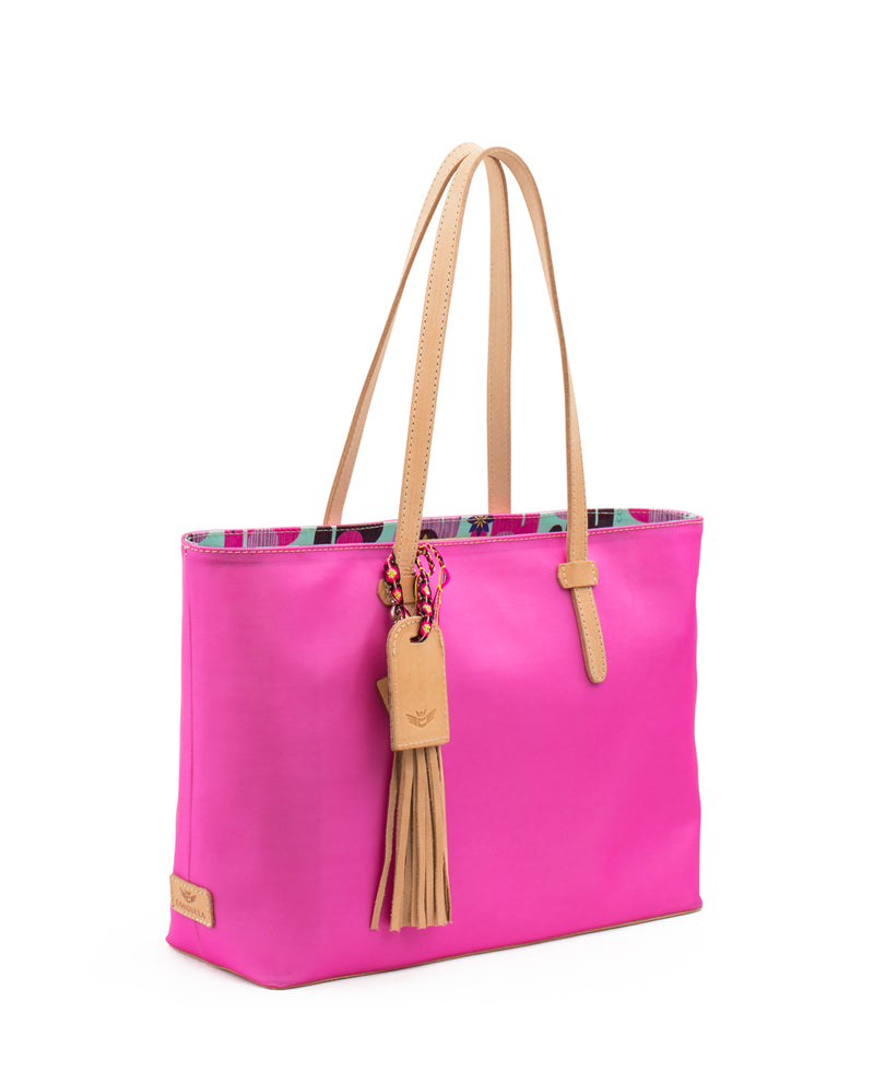 Pinkie Jelly East/West Tote by Consuela side view