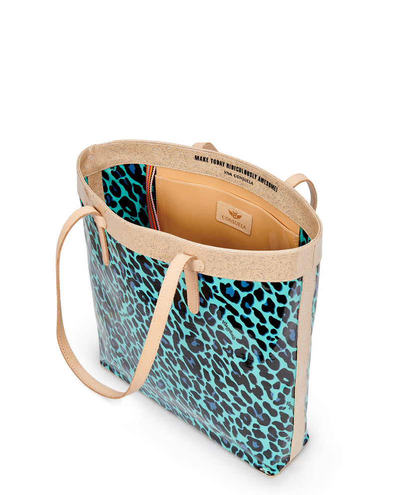 Gem Slim Tote in ConsuelaCloth by Consuela, interior slide pocket