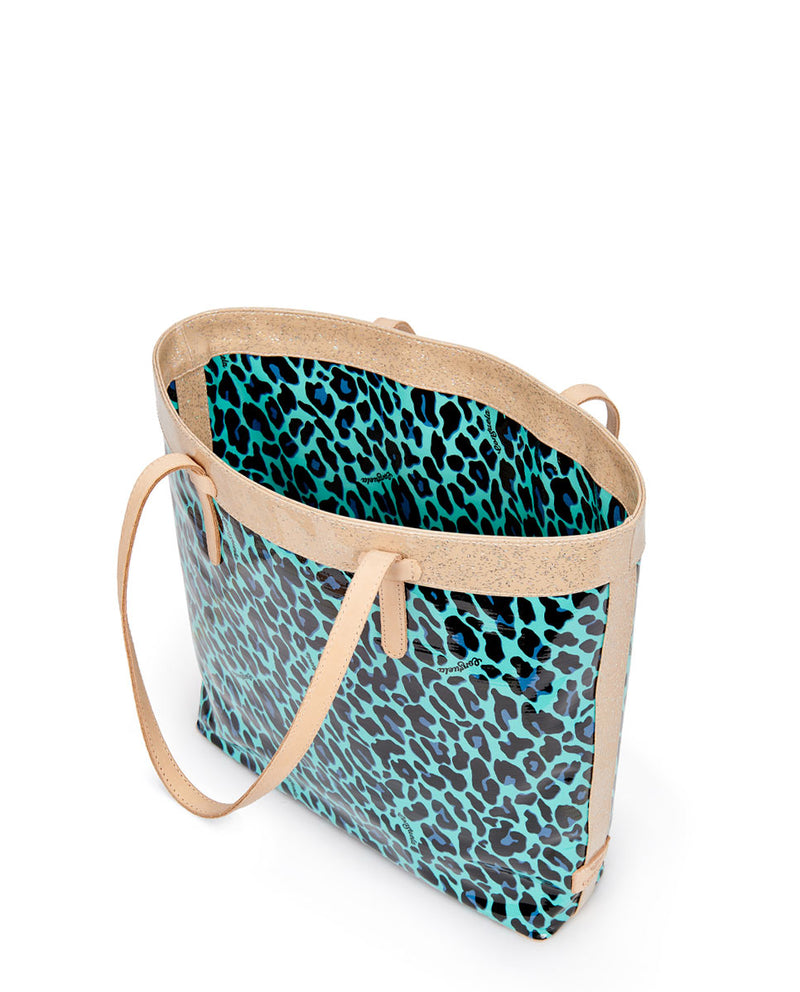 Gem Slim Tote in ConsuelaCloth by Consuela, interior