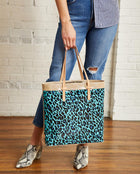Gem Slim Tote in ConsuelaCloth by Consuela, model view