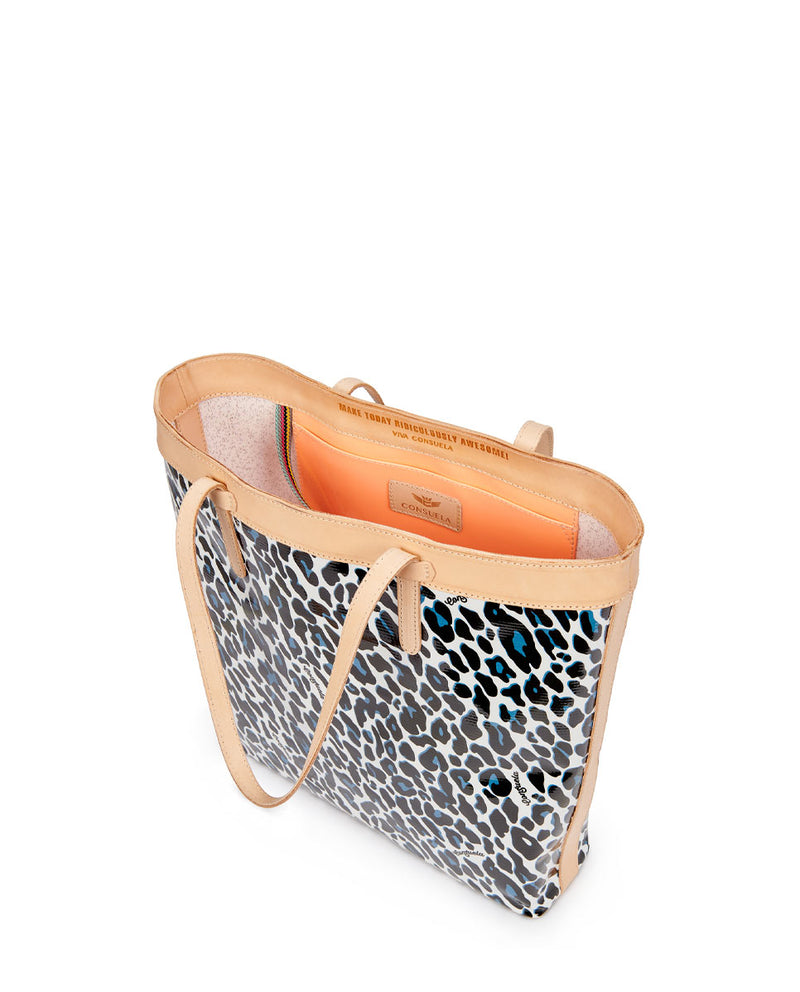 Lola Slim Tote by Consuela in ConsuelaCloth, interior slide pocket