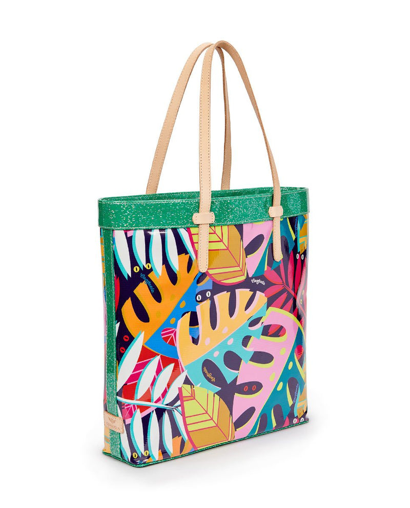 Maya Slim Tote in ConsuelaCloth by Consuela, side
