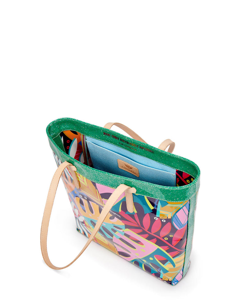 Maya Slim Tote in ConsuelaCloth by Consuela, interior slide pocket