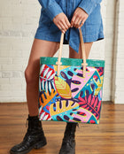 Maya Slim Tote in ConsuelaCloth by Consuela, model view