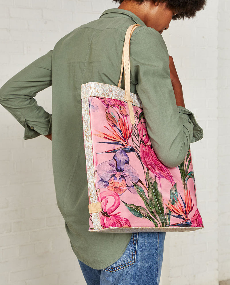 Consuela Brynn Slim Tote On Model with Shoulder Straps