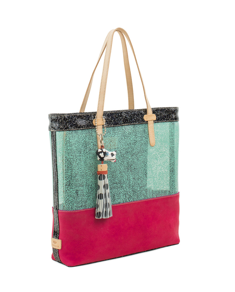 Rosa Irresistible Tote by Consuela, side view