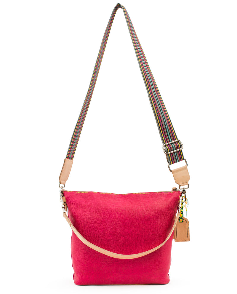 Rosa Hobo in pink pebbled leather by Consuela, back view
