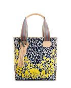 Gaby Classic Tote by Consuela in Lola ConsuelaCloth with yellow embroidery, front