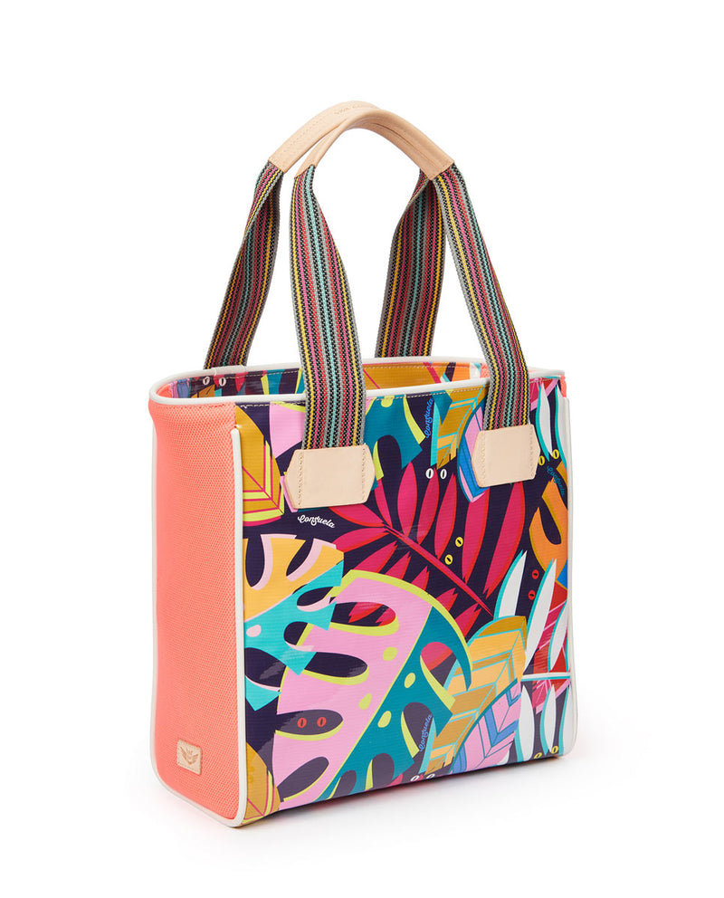 Coral Classic Tote by Consuela in Maya ConsuelaCloth™, side view