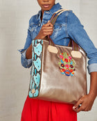 Consuela Suzanne Classic Tote On Model with Shoulder Strap