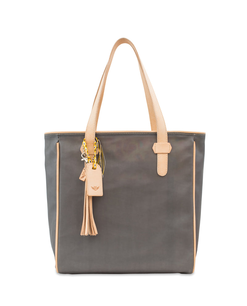 Smokey Classic tote in grey jelly by Consuela, front view